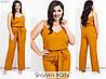 Лляний костюм жіночий з брюками (5 кольорів) МЕ/-238/1 - Гірчиця