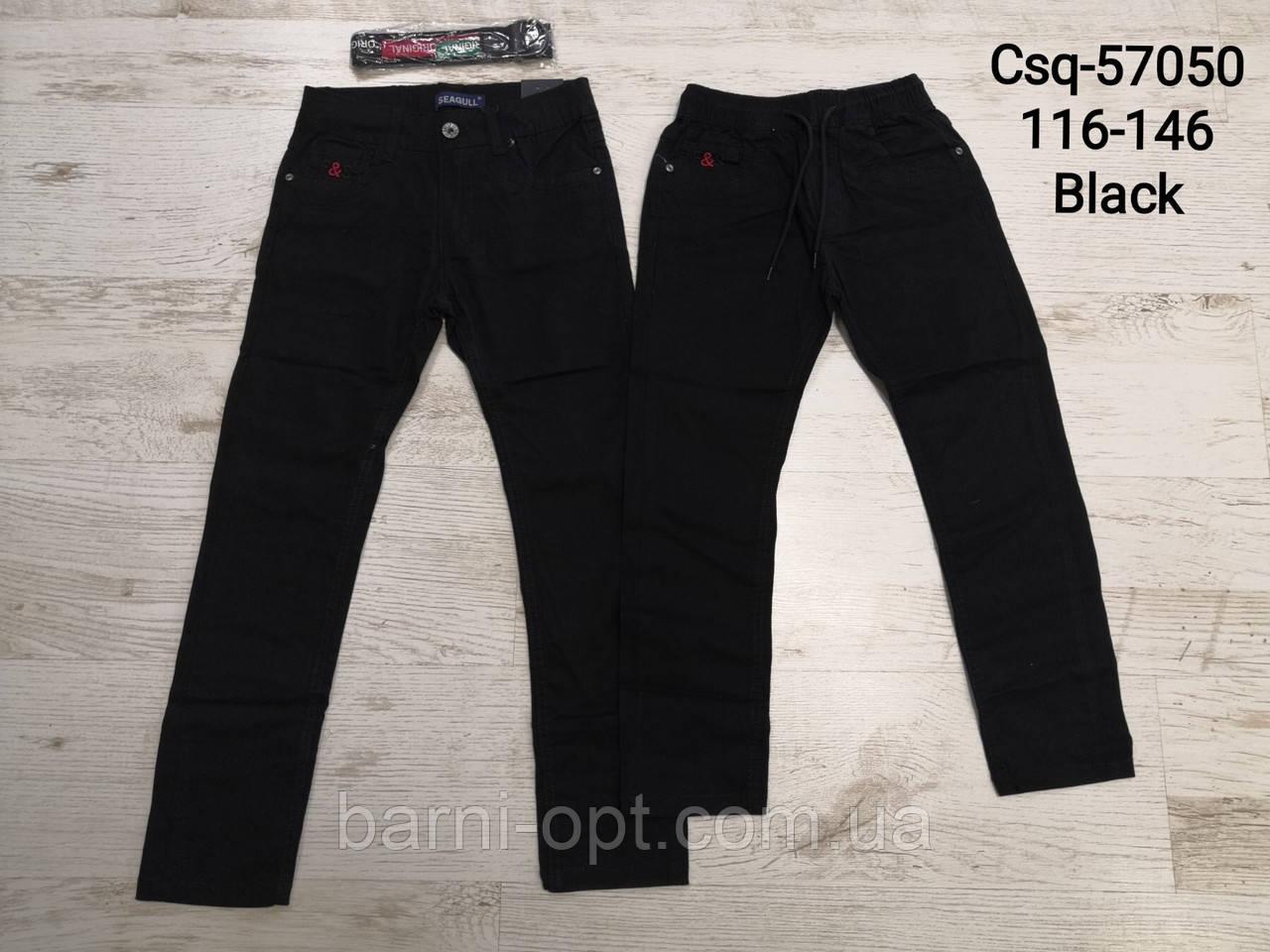 Коттоновые брюки для мальчиков, Seagull 116-146 рр