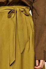 Юбка женская на пуговицы горчичная, фото 3