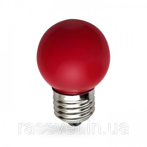 Светодиодная лампа Feron LB-37 1W E27 красная