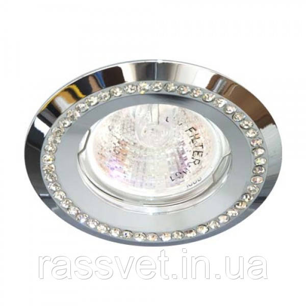 Встраиваемый светильник Feron DL103-C прозрачный хром