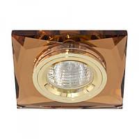 Встраиваемый светильник Feron 8150-2 коричневый золото
