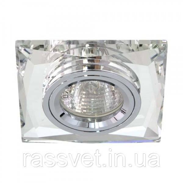 Встраиваемый светильник Feron 8150-2 серебро серебро