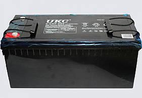 Гелиевый аккумулятор BATTERY 12V 200A UKC (Реальная ёмкость -40% = 120А)