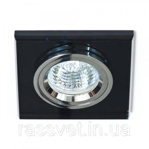 Встраиваемый светильник Feron 8170-2 серый серебро