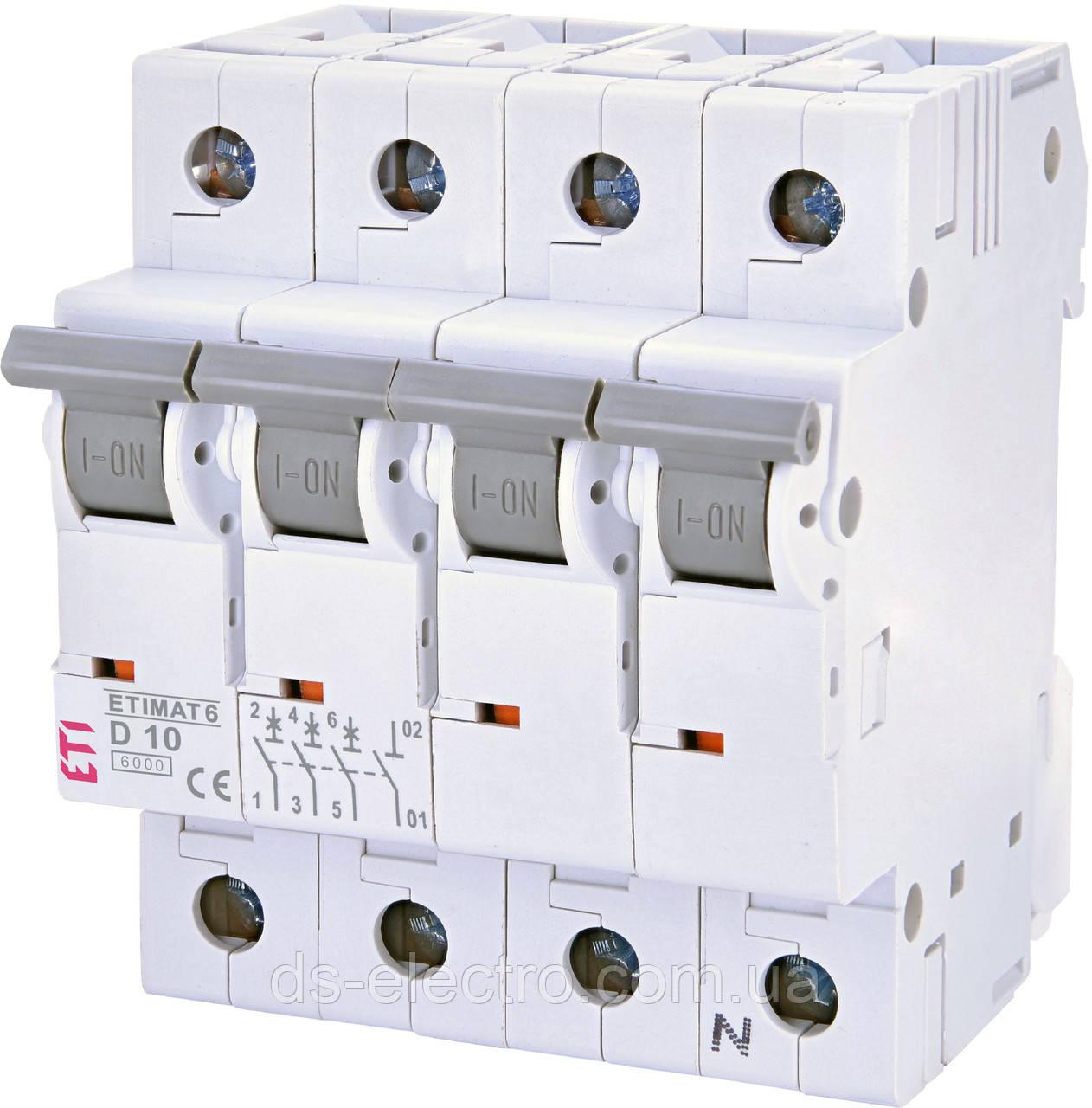 Авт. выключатель ETIMAT 6  3P+N D (6kA)