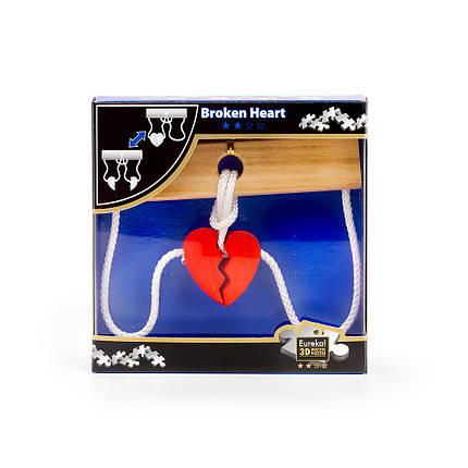 Верёвочная головоломка Eureka Puzzle Broken Heart, фото 2
