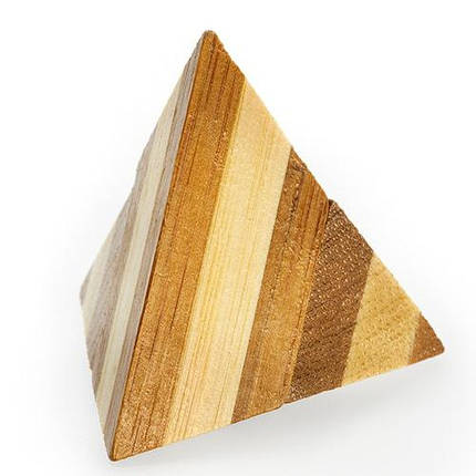 Головоломка бамбуковая Pyramid, фото 2