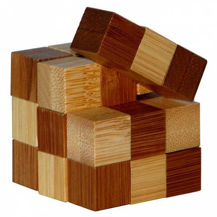 Головоломка бамбуковая Snake Cube, фото 2