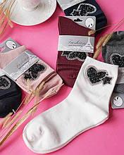 Носки с сердечками женские