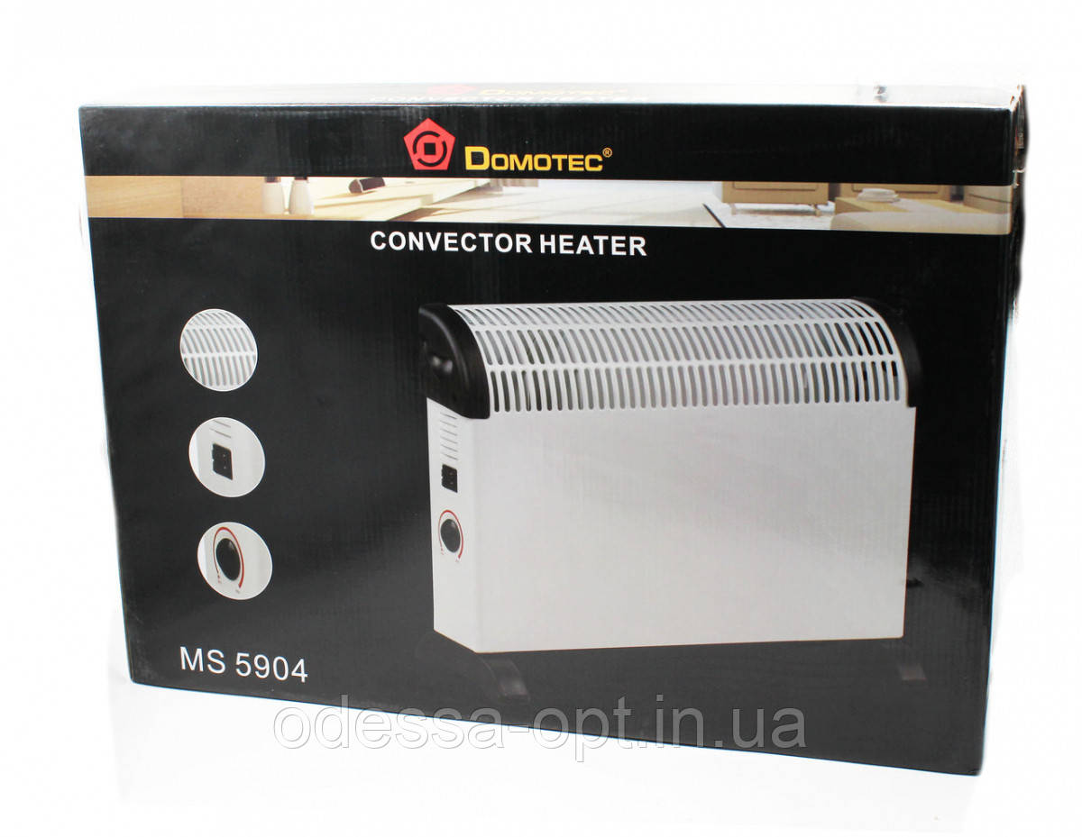 Конвектор Heater Domotec MS 5904 / Электрокамин на ножках