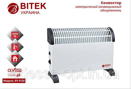 Конвектор Heater Domotec MS 5904 / Электрокамин на ножках, фото 2
