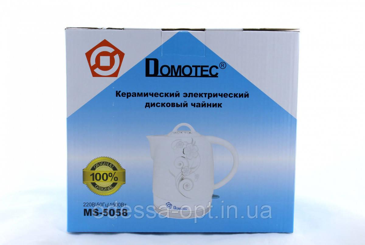 Чайник Domotec MS 5058 керамический 1,7L