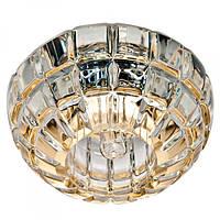 Встраиваемый светильник Feron JD87 прозрачный золото