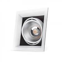 Карданный светильник Feron AL211 COB 30W белая рамка