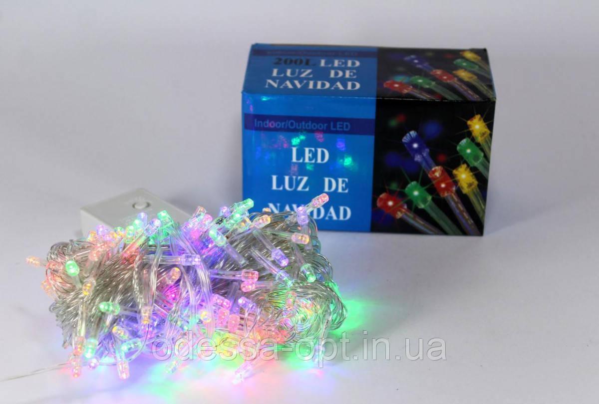 Светодиодная LED гирлянда Xmas 200 M-1 (цветные диоды)