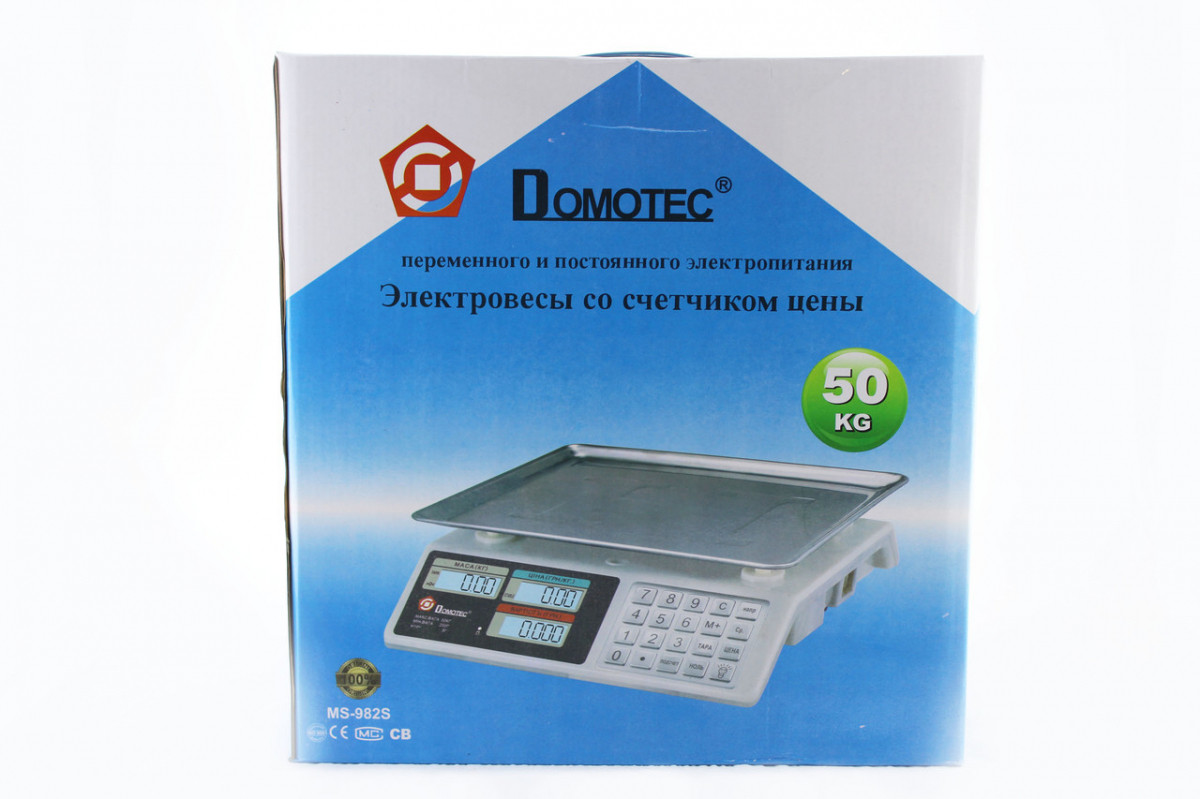 Весы Domotec CK 982S Metal Button 50kg/5g