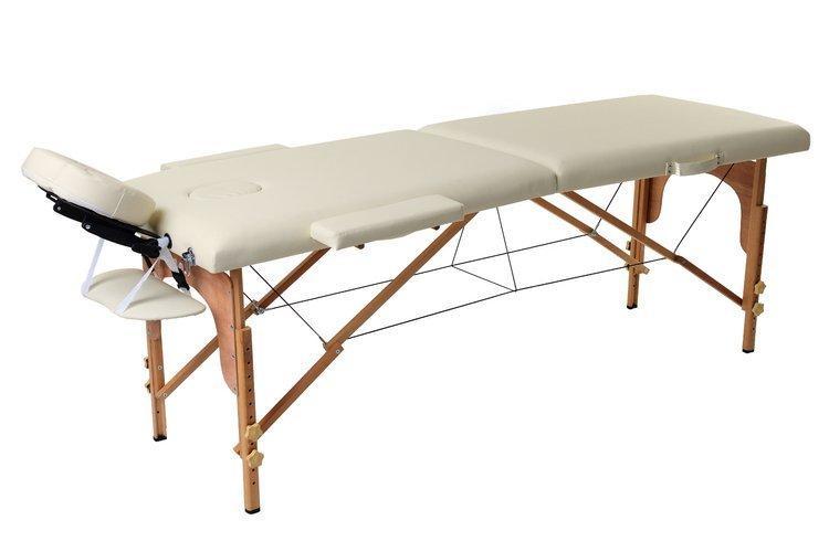 Масажный стол 2 сегмента деревянный, beżowe