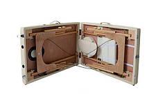 Масажный стол 2 сегмента деревянный, beżowe, фото 3