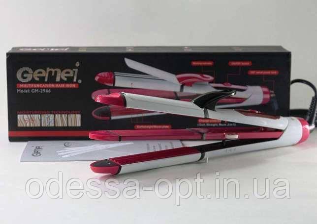 Щипцы для волос GM 2966 3в1 (плойка, выпрямитель/утюжолк, гофре)