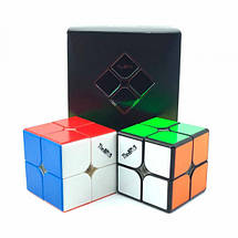 Кубик Рубика 2x2 QiYi Valk 2M Магнитный Черный, фото 2