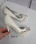 Туфли белые, высокий каблук, платформа, фото 2