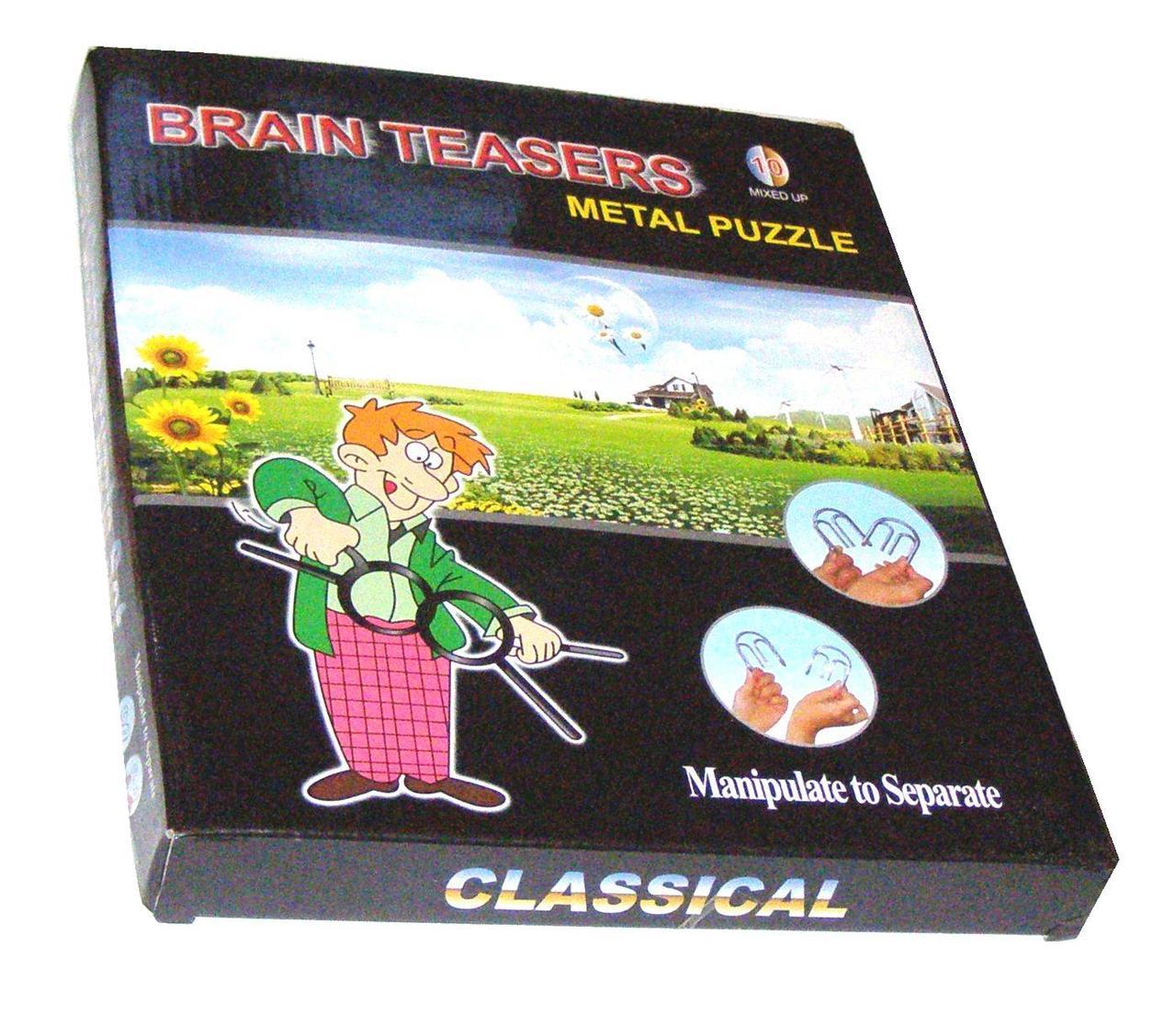Набор 10 металлических головоломок