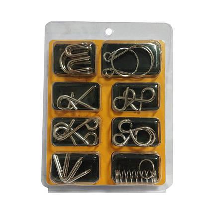Набор из 8 металлических мини головоломок, фото 2