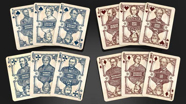Покерные карты Bicycle Civil War, фото 2