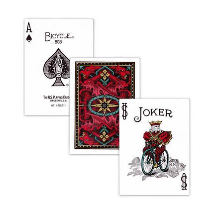 Покерные карты Bicycle Dragon Back (Красные), фото 2