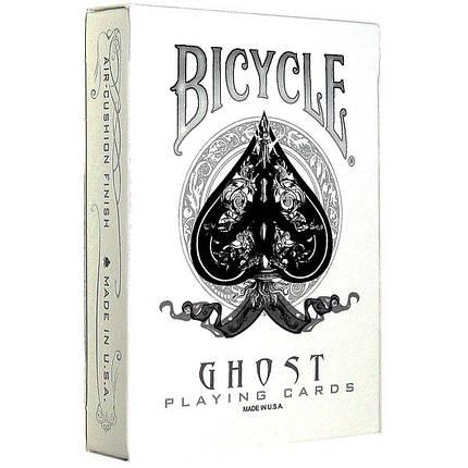 Покерные карты Bicycle Ghost White, фото 2