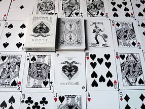 Покерные карты Bicycle Ghost White, фото 3