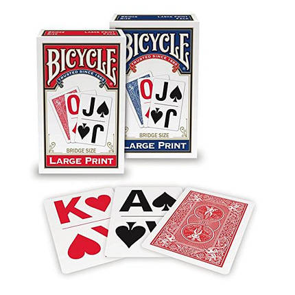 Покерные карты Bicycle Large Print, фото 2