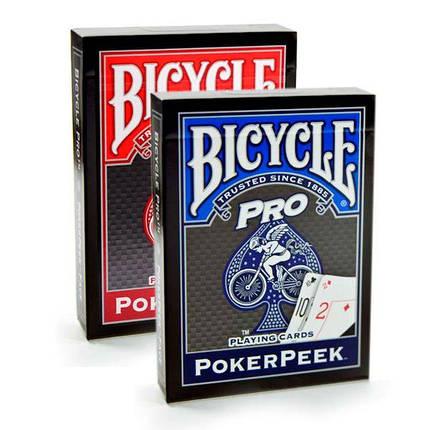 Покерные карты Bicycle Poker Peek Pro, фото 2