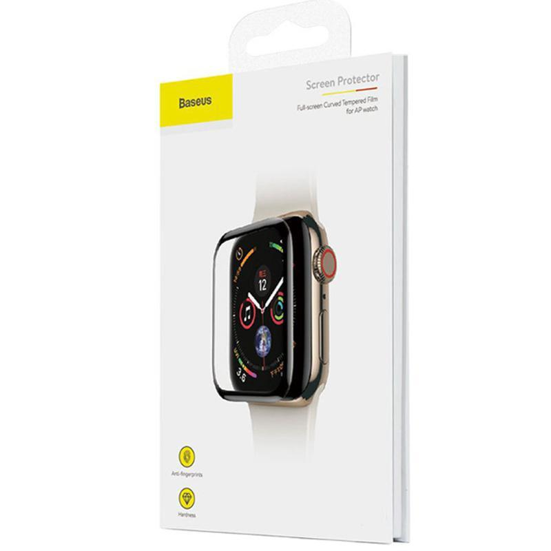 Защитное стекло Baseus Curved-Screen для Apple Watch 42 mm Black (0.23mm)