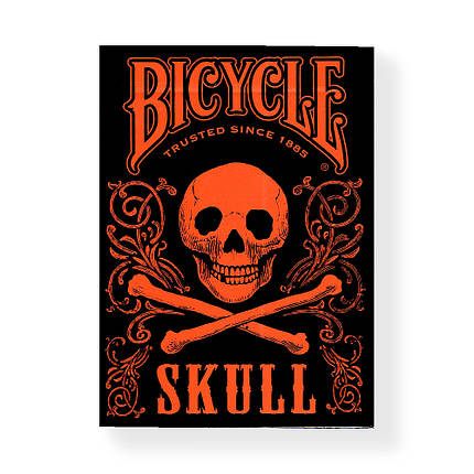 Покерные карты Bicycle Skull Orange, фото 2