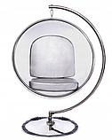 Підвісне крісло - куля ins. BUBBLE CHAIR на хромовані стійці, фото 3