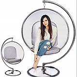 Підвісне крісло - куля ins. BUBBLE CHAIR на хромовані стійці, фото 2