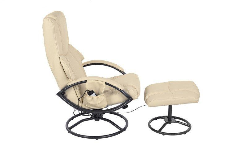 Кресло с масажем ROCCO + puff z masażem - beżowy