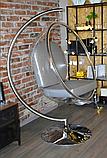 Підвісне крісло - куля ins. BUBBLE CHAIR на хромовані стійці, фото 5