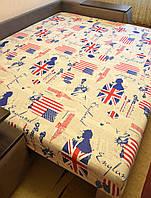 """Простынь на резинке 160х200 см """"Англия & Америка"""" in Luxury™ 32056"""