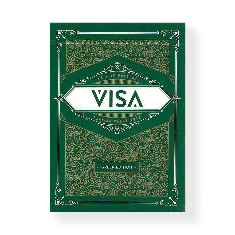 Покерные карты Visa Green Edition
