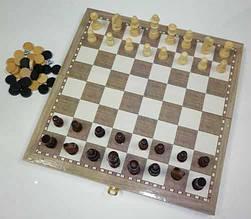 Настольная игра Шахматы, шашки, нарды 35 см (Набор 3-в-1)