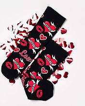 Носки женские с сердечками