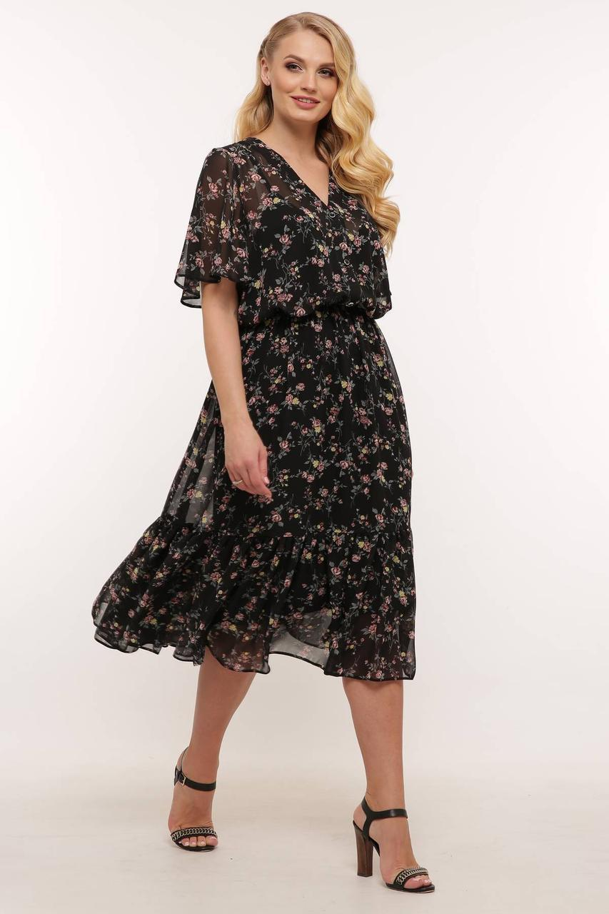 Модне плаття з шифону з 54 по 60 розмір 2020
