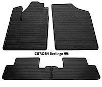 Резиновые автомобильные коврики в салон CITROEN Berlingo 1999 ситроен берлинго Stingray