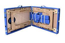Масажный стол 3 сегмента деревянный o szerokości 70 cm, niebieskie, фото 2