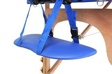 Масажный стол 3 сегмента деревянный o szerokości 70 cm, niebieskie, фото 3