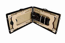Масажный стол 3 сегмента деревянный o szerokości 70 cm, brązowe, фото 3