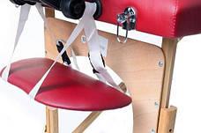 Масажный стол 2 сегмента деревянный, bordowe, фото 3